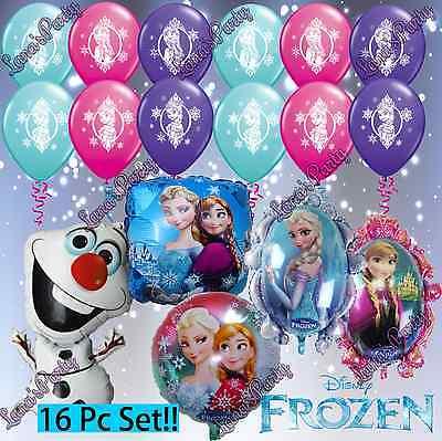 Frozen Elsa / Ana Bundle Balloons Balloon Disney Princess Latex & foil  (Frozen Foil Balloons)