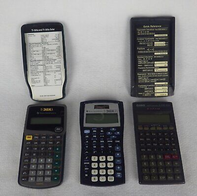 Lot of 3 Scientific Calculators Texas Instruments 30XA, 30X2S, Casio fx270W plus