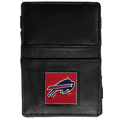 NFL Buffalo Bills Jacobs Ladder Wallet Leather Magic Black Cash Holder