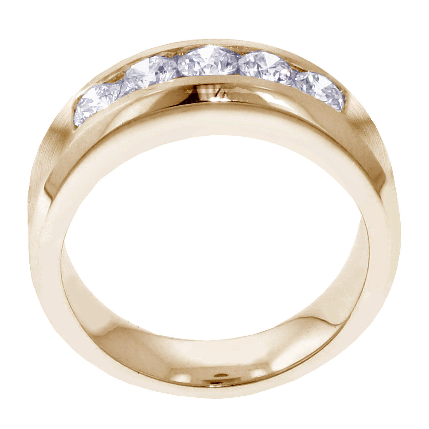 1.00 CT Channel Set Diamond Mens Wedding Ring in 14k Yellow Gold NEW! 6