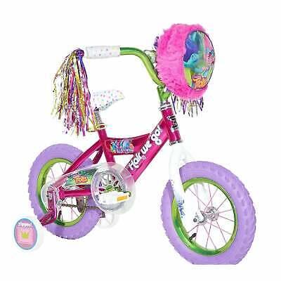 "12"" Bikes For Girls Dynacraft Trolls Bicycle Pink Adjustable"