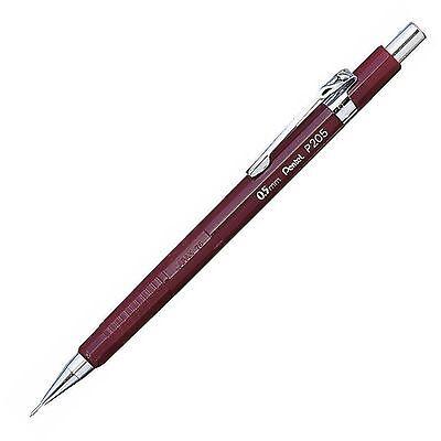 P205b Pentel Sharp Mechanical Drafting Pencil 0.5mm Medium Tip Red Pack Of 1