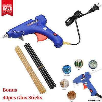 Glue Gun Crafts (Hot Glue Gun 20W + Glue Sticks DIY Arts Crafts Home Auto Body Dents Removal)