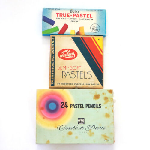 Vintage Lot of Pastels True Pastel Conte a Paris Talens Sets