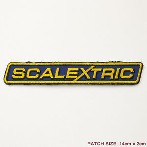 SCALEXTRIC-Slot-Racing-Cars-Logo-Embroidered-Patch-Modern-Style