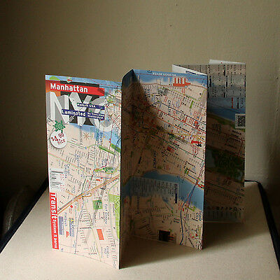 - Map Laminated Manhattan New York NY Eco Friendly WaterProof - full subway system