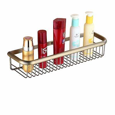 Antique Brass Bathroom Cosmetic Storage Shelf Shower Caddy Holder Wall Mounted Shower Caddy Brass
