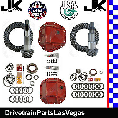 Jeep Wrangler JK Dana 44 30 Re-Gear Ring Pinion Pkg USA Std 4.88 Kits RT Covers Dana 30 Standard Differential