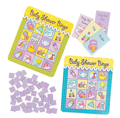 Baby Shower BINGO Game 8 players  PARTY Boy or Girl