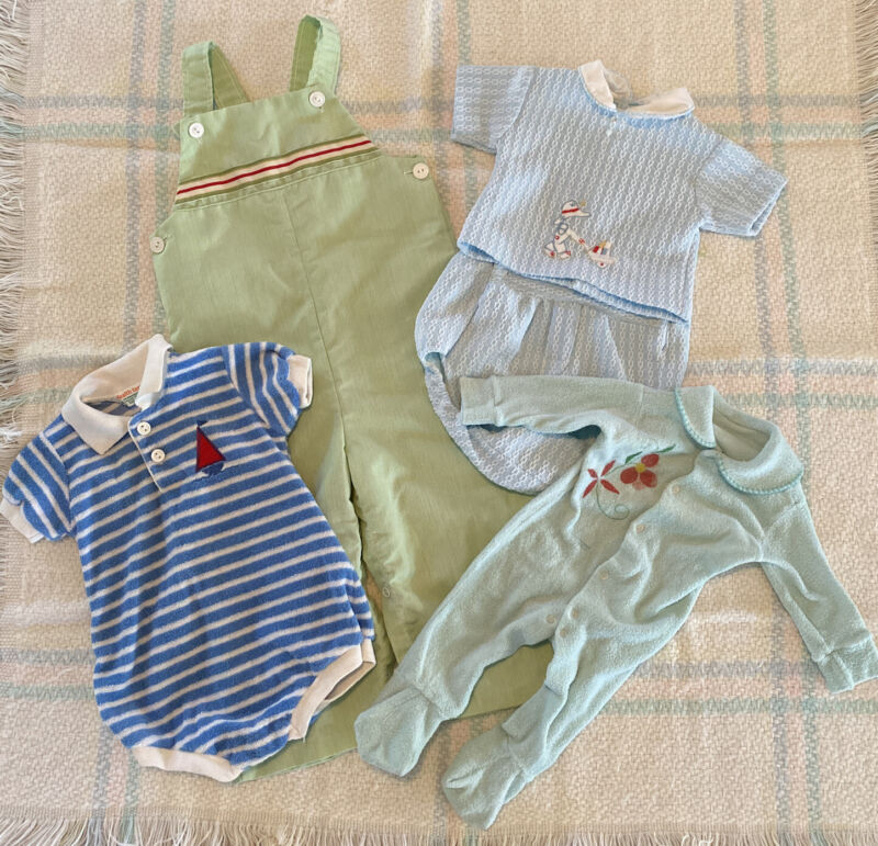 Vintage 1980s Baby Boy's Clothing Lot Of 4