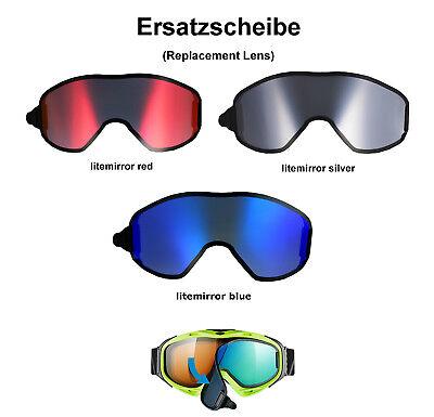 Uvex g.gl 300 & uvison take Off Ersatzscheibe red blue silver  Skibrille Goggle