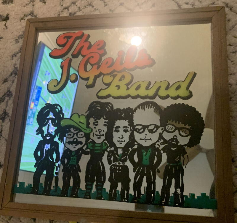 VINTAGE The J. Geils Band Carnival Mirror