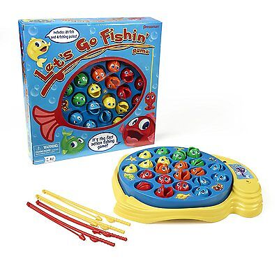Lets Go Fishin Original Classic Fishing Toy For Kids W  Spinning Game Board New