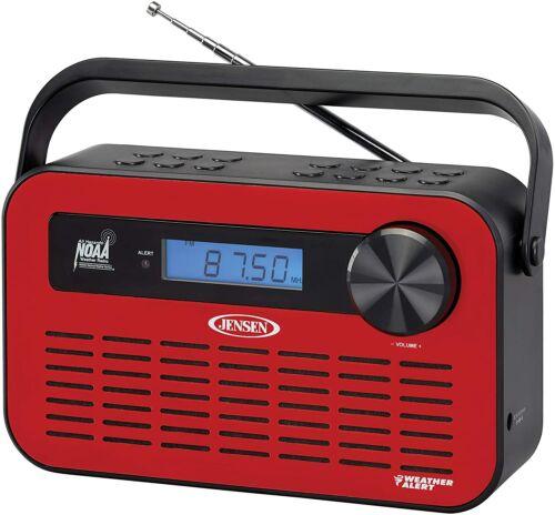 Jenson Portable Digital AM/FM NOAA Weather Radio with Weather Alert