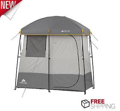 Ozark Smell 2 Room Shower Tent Bathroom Changing Shelter Camping Bathroom Hiking