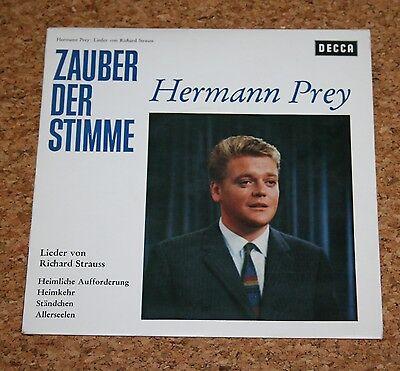 """Single 7"""" Hermann Prey Lieder von Strauss DECCA SVD 1023 Weislabel Musterplatte"""