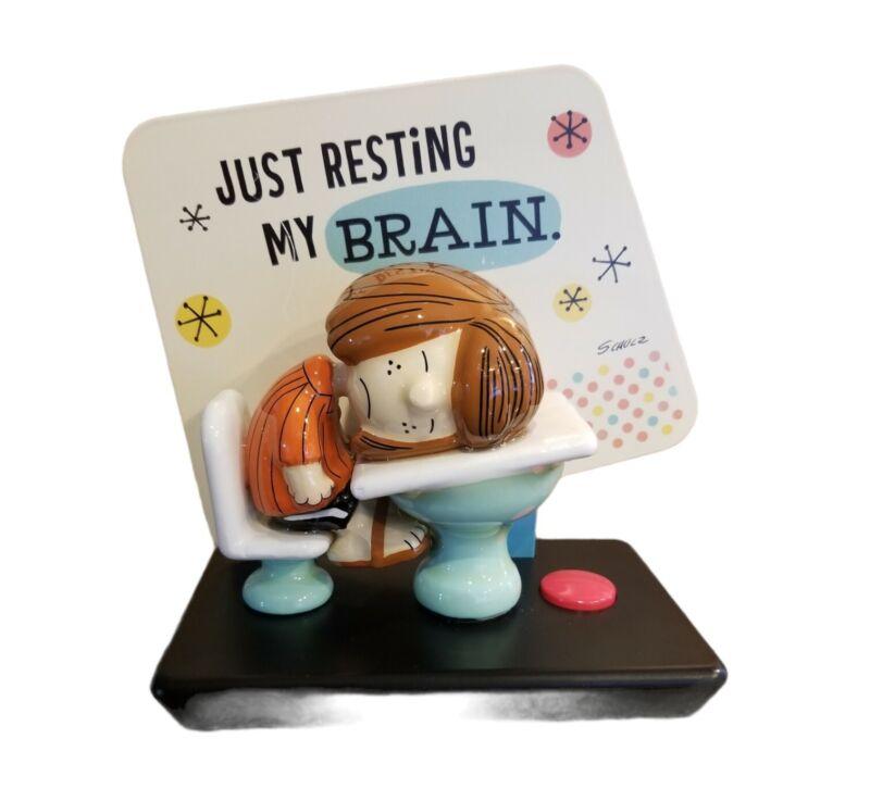 Hallmark Peppermint Patty Just Resting My Brain Figurine