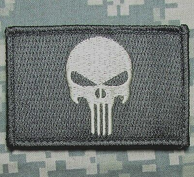 PUNISHER SKULL ACU LIGHT USA ARMY VELCRO® BRAND FASTENER MORALE BADGE PATCH