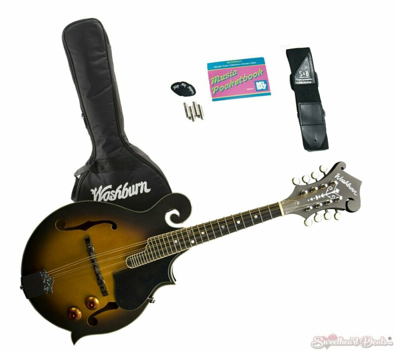 Washburn M3EK F-Style Mandolin Kit with Pickup & Gig Bag - Sunburst