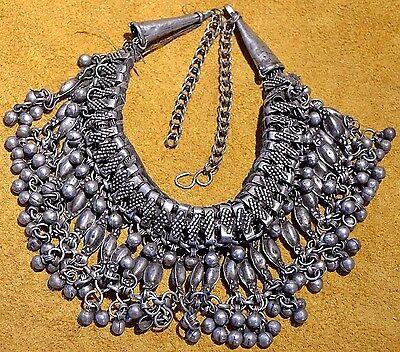 Antique Ethiopian Ethnic Metal Choker Necklace Dangles & Bells Ethiopia, Africa