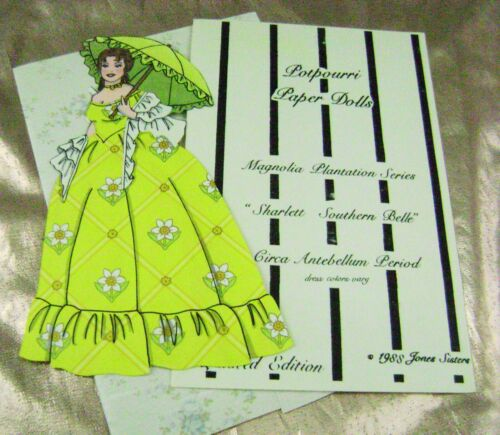 VTG PAPER DOLLS 1988 HANDMADE GONE WITH THE WIND JONES SISTERS BARBARA BARNETT