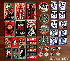 OBEY BONUS STICKER PACK 40 - SHEPARD FAIREY - NEW IN PACKAGE - faile