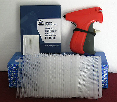 "10312 Avery Dennison Fine Fabric Price Tagging Gun + 5000 2"" Clear Barbs"