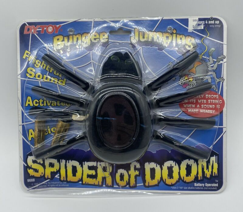 Vintage NEW DY Toy 1995 Halloween Bungee Jumping Spider of Doom  #9688