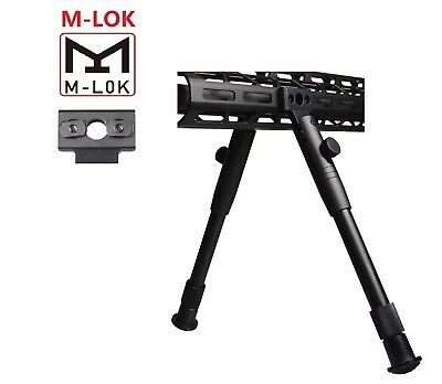 Two Piece Bipod Side Rail Direct Attach Mount Fits MLOK Lightweight