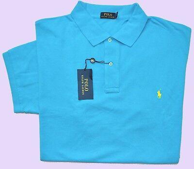 New 2XLT 2XL TALL POLO RALPH LAUREN Mens polo shirt turquoise blue top 2XT 2LT