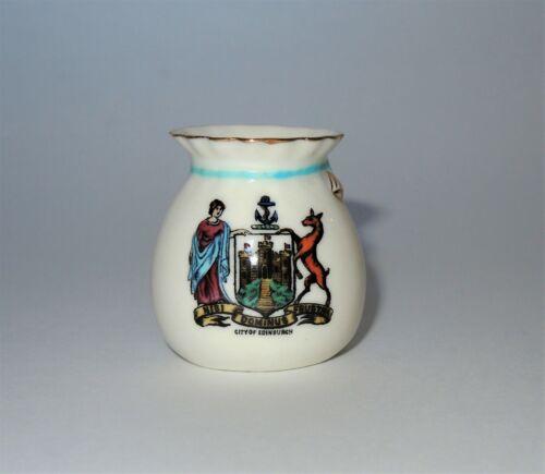 W. H. GOSS Crested Heraldic Bone China Mini Miniature Vase City of Edinburgh EUC