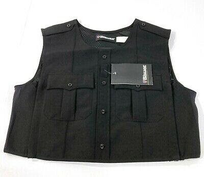 NEW BLAUER 8370 POLYESTER ARMORSKIN VEST OUTER ARMOR CARRIER BLACK 2XL REGULAR