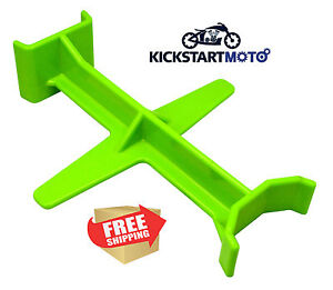 Green Tie Down Brace Block Fork Saver Seal Savers Motocross Dirtbike Motorcycle