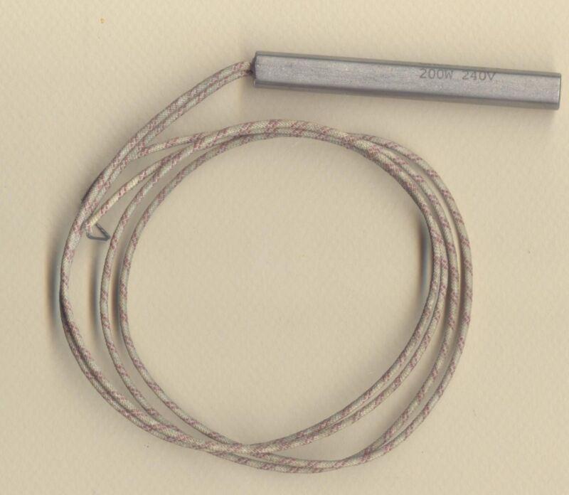 "FAST HEAT Cartridge Heater 3/8"" Dia X 3"" Long 200W 240V 24"" Fiberglass Leads"