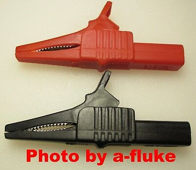 New 4mm Modular Xl Alligator Clips For Fluke 4mm Lead Sets Tl224 Tl222 Tl221