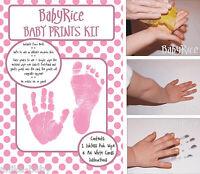 Bambina Mano & Impronta Piede Scritte Kit Set Maternità Ospedale Bag Doccia -  - ebay.it