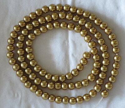 100 perles rondes en porcelaine - 4 mm - dorées - Loisirs créatifs Customisation