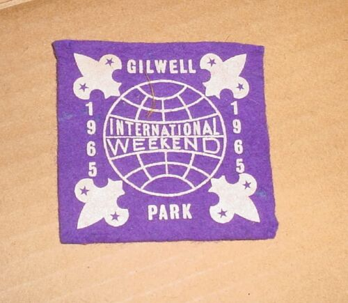 1965 Boy Scout  Gilwell Park  International Weekend Patch