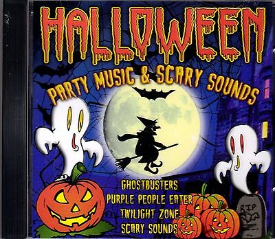 HALLOWEEN PARTY MUSIC & SCARY SOUNDS: SPOOKY SONGS & SOUND EFFECTS IMPORT CD - Halloween Party Songs Cd