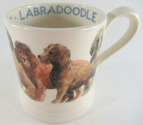 Emma Bridgewater LABRADOODLE 1/2 Pint Mug Coffee Cup Made in England Dogs Series