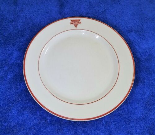 """Set of 4 Vintage YMCA 9"""" Dinner Plates - Sterling Verified China 1940-50s"""