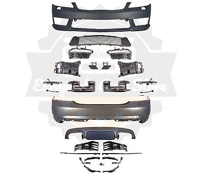 MB 2007-13 W221 AMG STYLE S-CLASS FRONT REAR BUMPER LED DRL BODY KIT WITH -