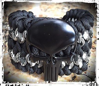 Punisher Wide Paracord Bracelet.