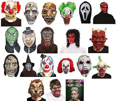 Latex Full Head Overhead Halloween Horror Masks Fancy - Full Face Maske Kostüm
