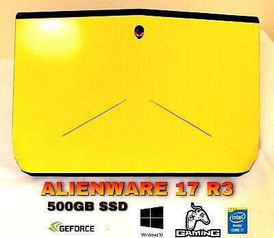 "ALIENWARE 17 r3 4K GAMING LAPTOP i7 500GB SSD NVIDIA GTX 12GB RAM  17.3"""