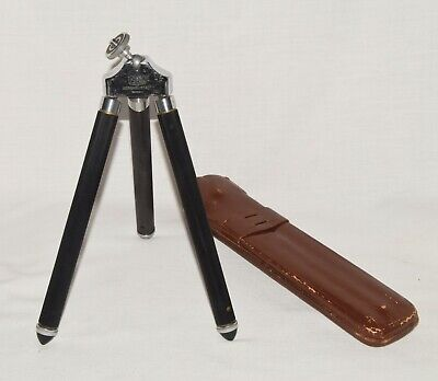 Vintage German Ising Bergneustadt Chrome and Brass Camera Tripod + Ball Head