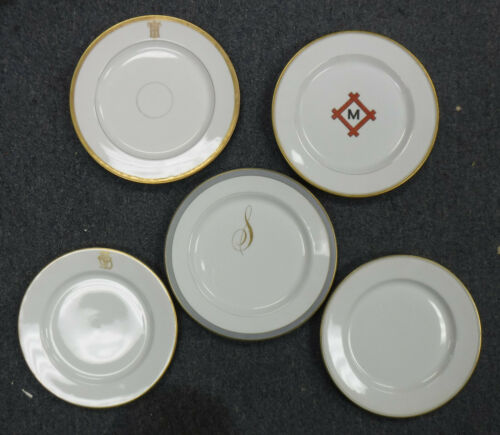 Vintage Railway Dinnerware, set of 5 plates