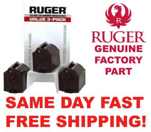 Ruger 90005 10/22 Magazine Value 3 Pack BX-1 22LR 10 Rd SAME DAY FAST FREE SHIP