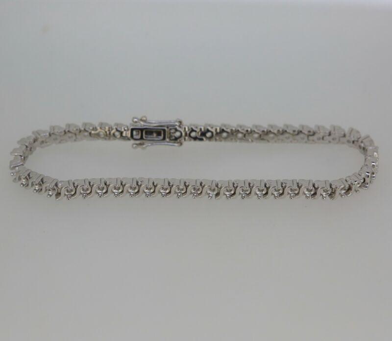 Sterling Silver 7 inch Tennis Bracelet Semi Mount Setting Round RD 2.5x2.5mm
