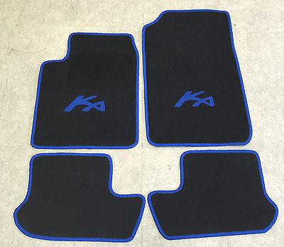 VELOURS Fußmatten schwarz vers Rand für Ford KA 2 RU8 Bj 2008-2016